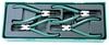 """AG010002ST (AG010002SP) Универсальный набор щипцов для стопорных колец """"разжим и сжим"""" 7"""", 4 предмета (ложемент)"""
