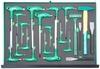 H10121SV Набор торцевых ключей, шестигранных и TORX®, молотков и зубил. 21 предмет в EVA ложементе 560х400 мм.