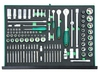 """S04H45121SV Набор торцевых головок 1/4""""DR, 3/8""""DR, 1/2""""DR с приводами, 81 предмет, вставок-бит, 40 предметов  в EVA ложементе 560х400 мм."""