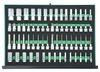 """S04HD4366SV Набор глубоких торцевых головок 3/8""""DR и 1/2""""DR, торцевых насадок с вставками 1/2""""DR. 66 предметов в EVA ложементе 560х400 мм."""