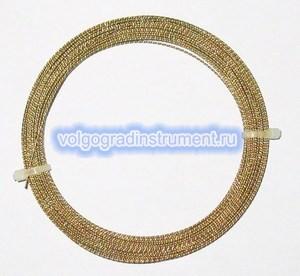 Струна витая, позолоченная, 0,8 мм, длина 22 м